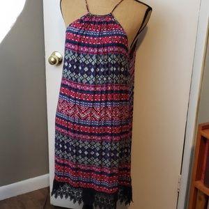 RUE21 spaghetti strap medallion pattern dress